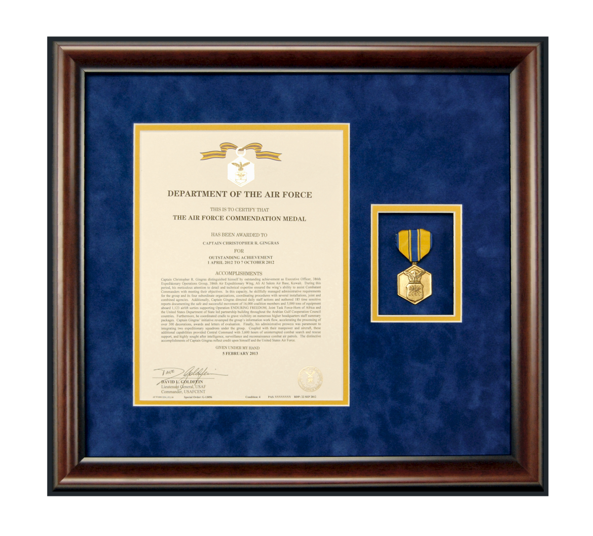 framed military medals vertical - Military Picture Frames