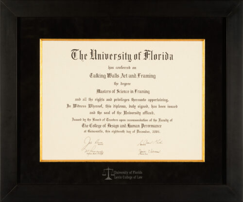 University Of Florida Diploma Frames Talking Walls