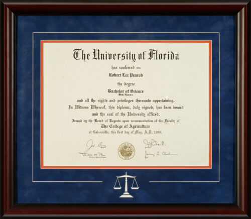 UF Diploma Scales of Justic