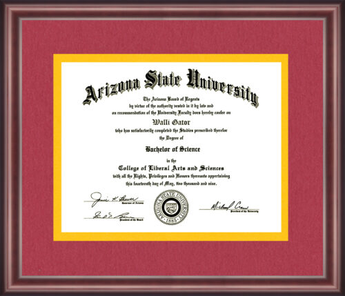 Arizona State University Diploma Frame