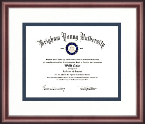 Brigham Young University Diploma Frame