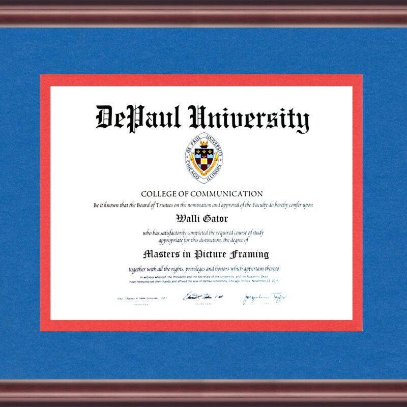 Depaul University Diploma Frame Talking Walls