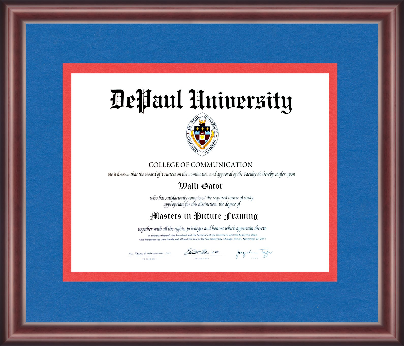 DePaul University Diploma Frame - Talking Walls