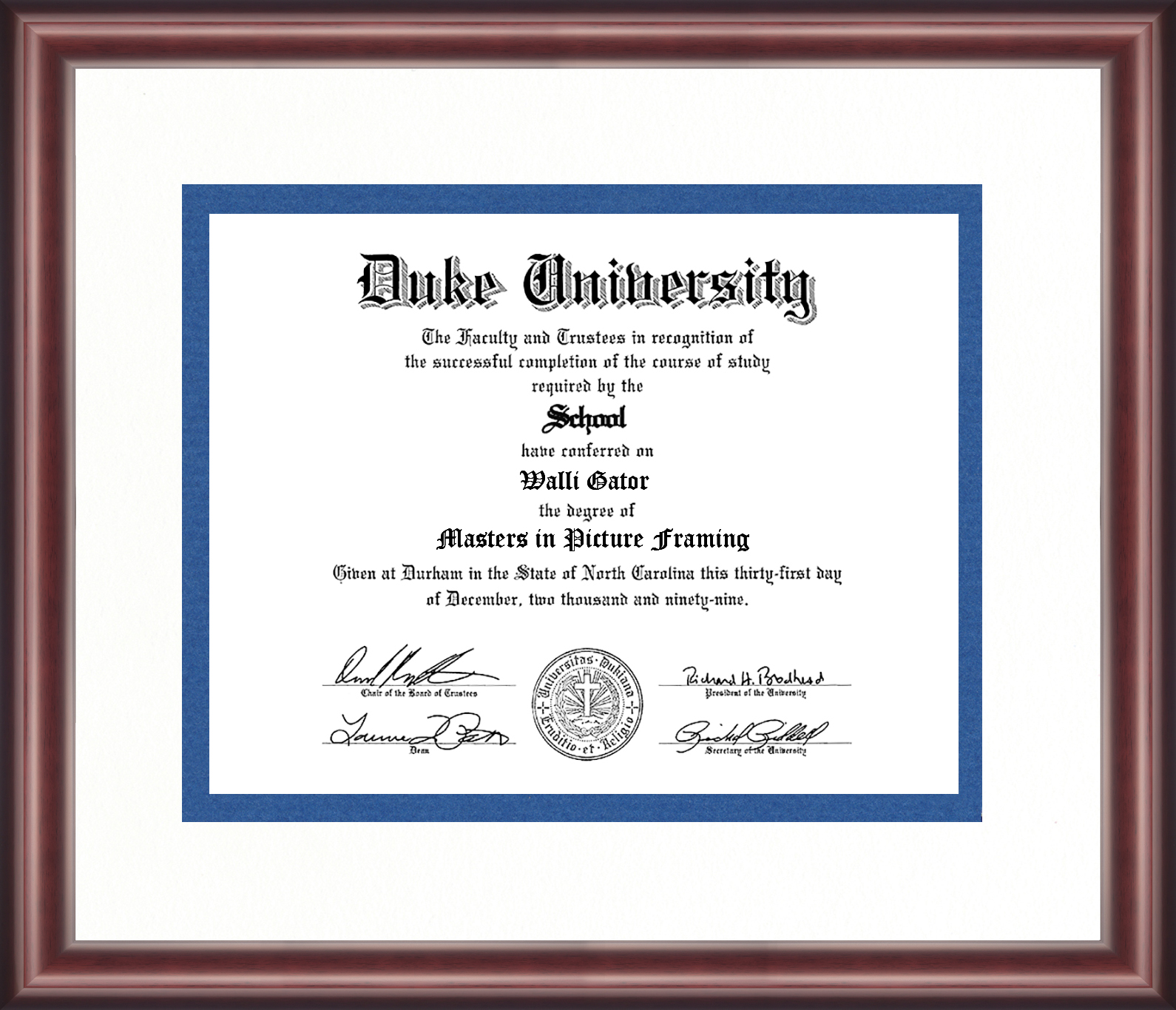 Old Fashioned Duke Diploma Frame Collection - Picture Frame Ideas ...