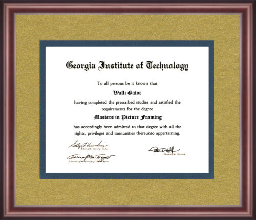 Georgia Institute Of Technology Diploma Frame