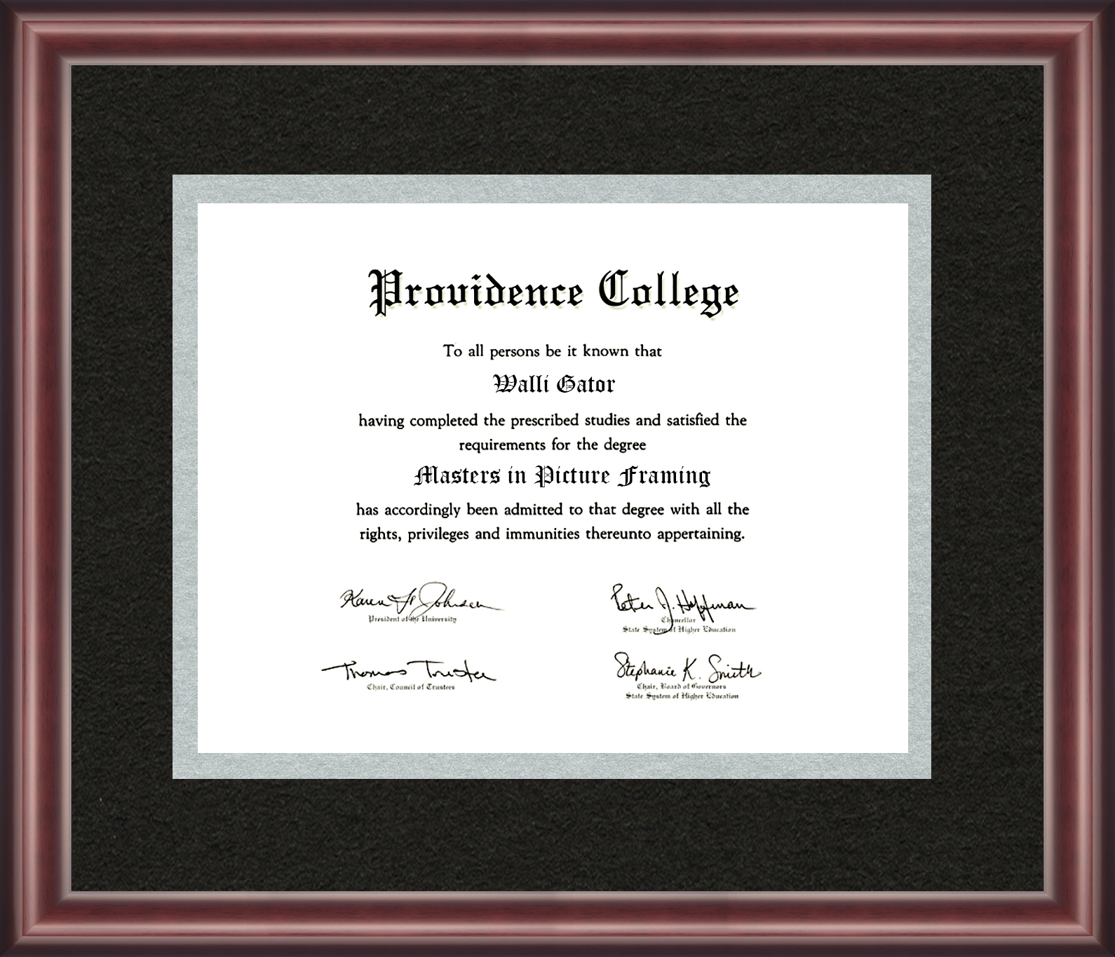 Providence College Diploma Frame - Talking Walls