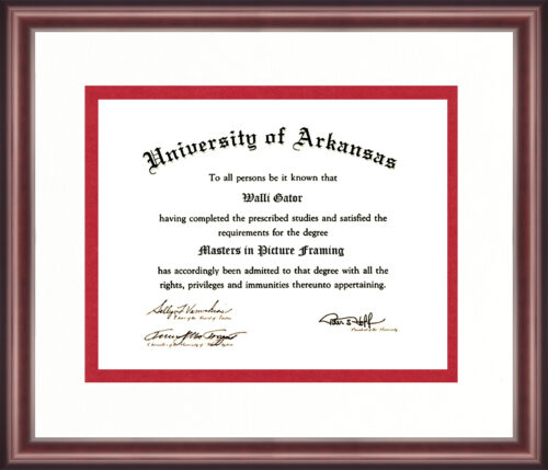 University of Arkansas Diploma Frame