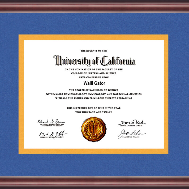 University Of California Diploma Frame Talking Walls