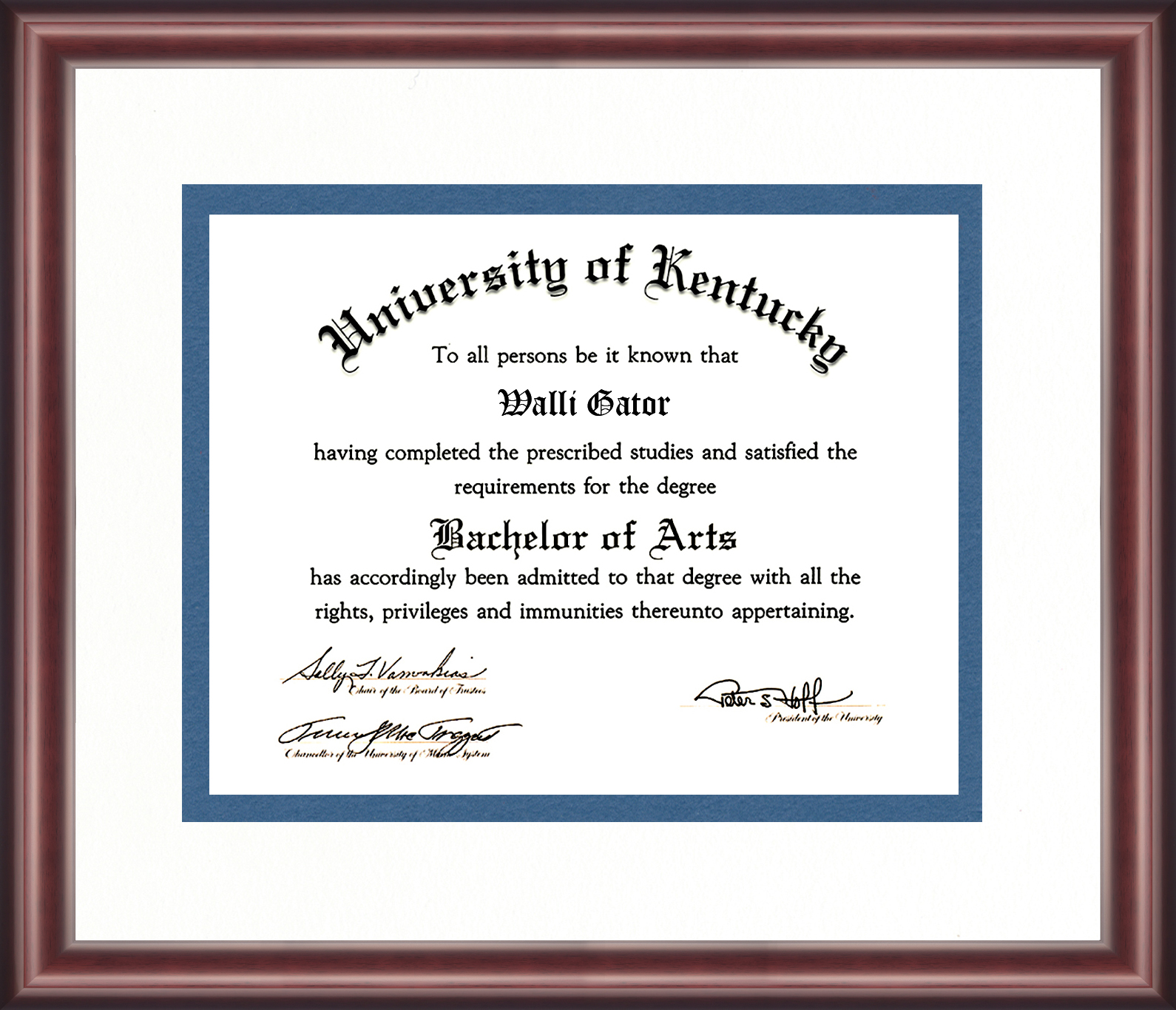 University of Kentucky Diploma Frame - Talking Walls