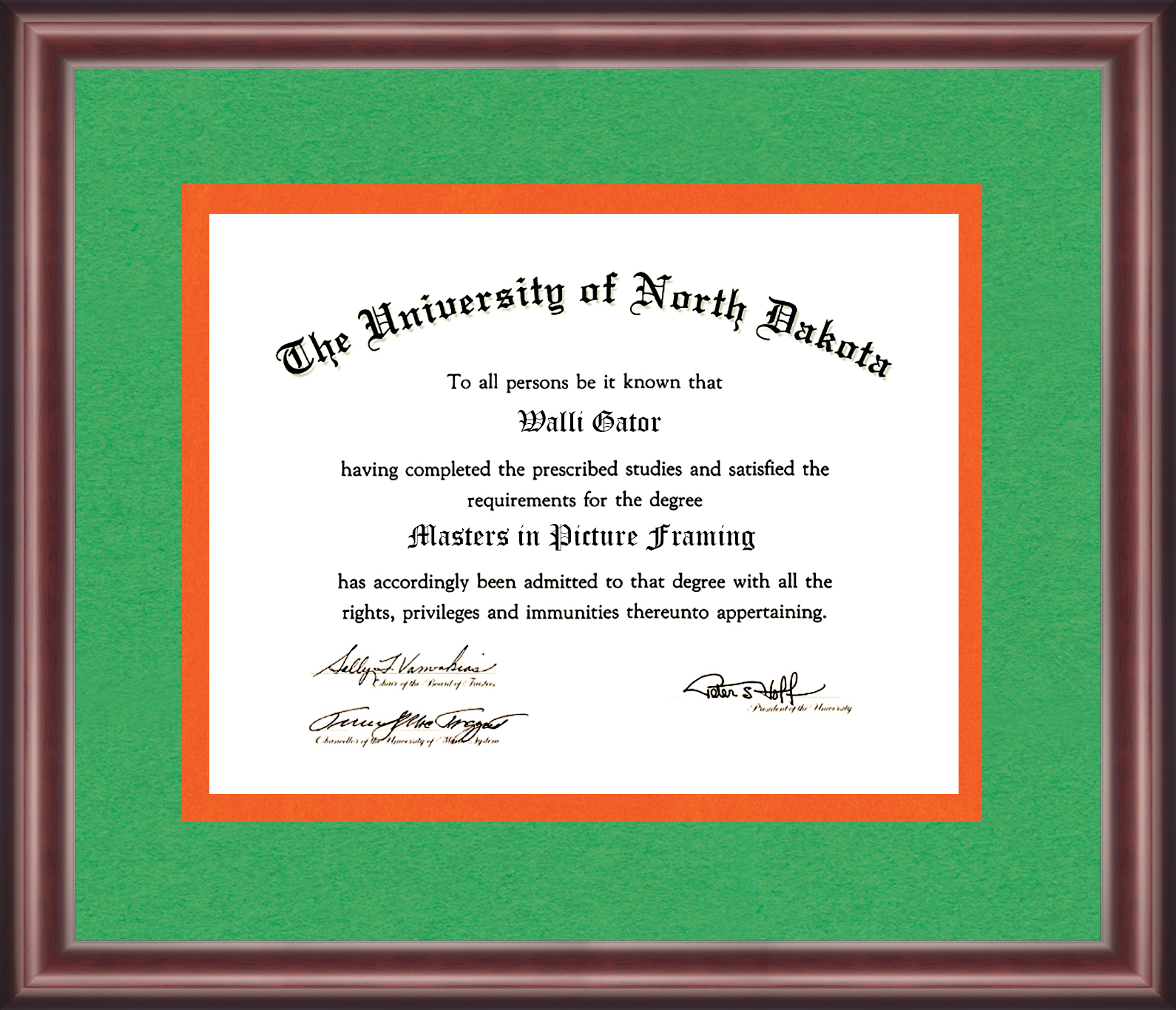 University of North Dakota Diploma Frame - Talking Walls