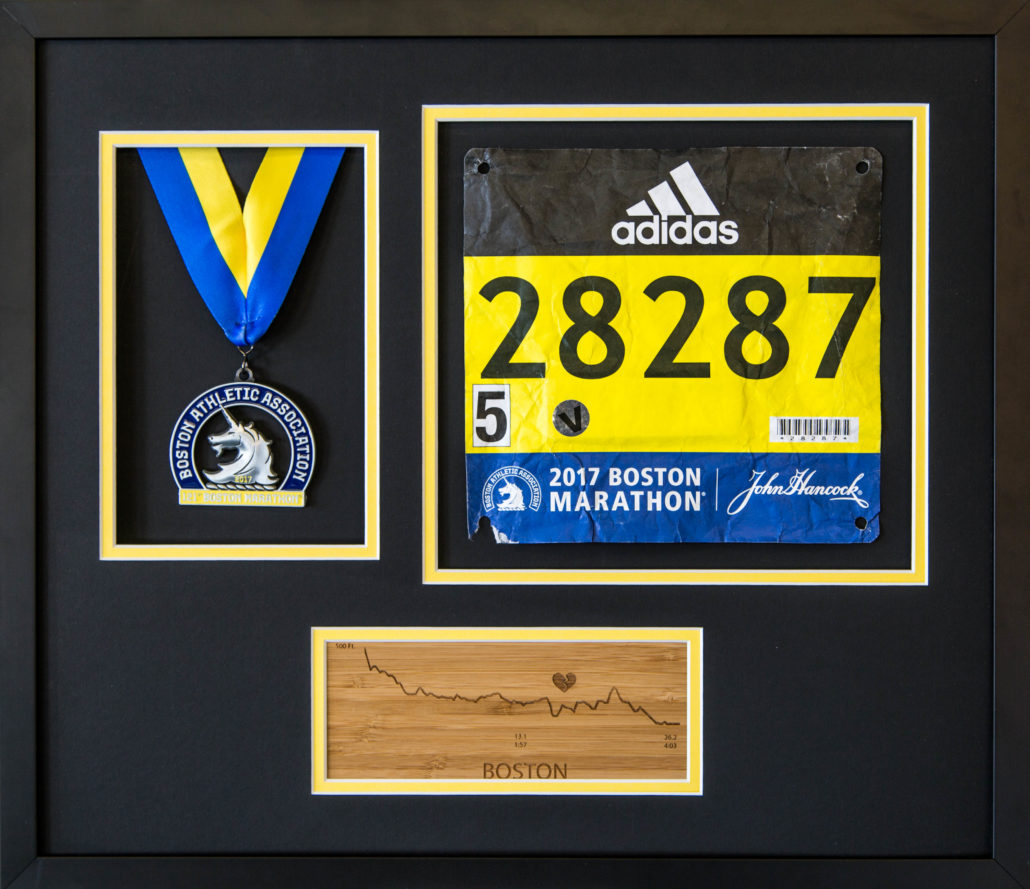 Custom Crafted Running Medal Amp Bib Frame With Engraved