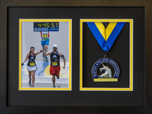 Running Photo and Medal Frame