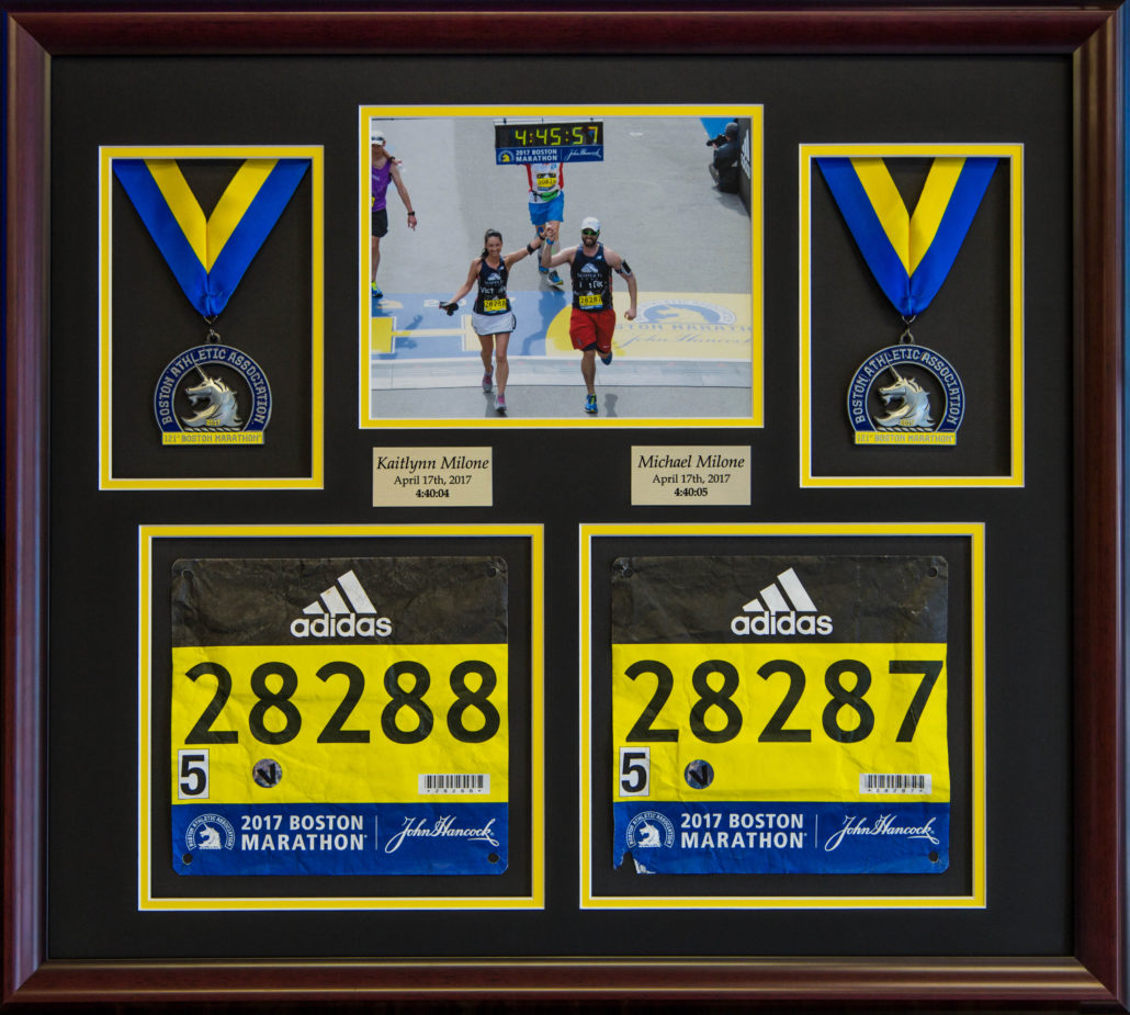 Custom Crafted Running Medal Race Photo Amp Bib Frame With